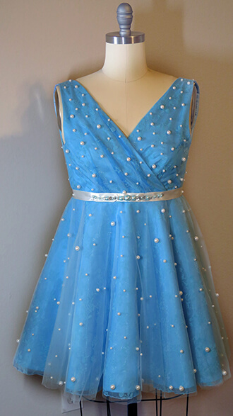 Blue Airy Pearl Dress