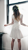 Flowered Organza Dress