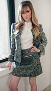 Tweed Pearl Skirt Suit